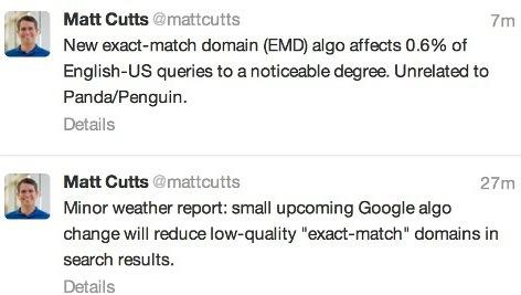 EMD update google