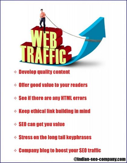 enhance web traffic