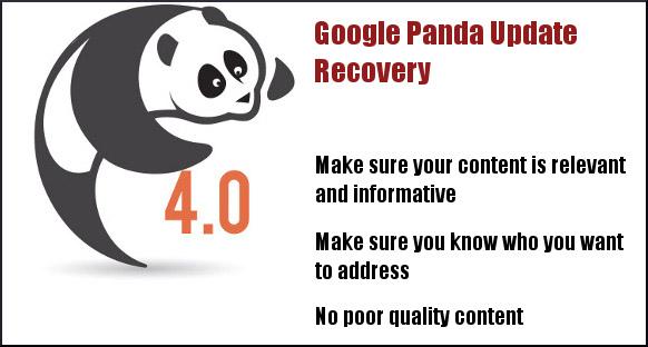 Google panda 4.0 recovery tips