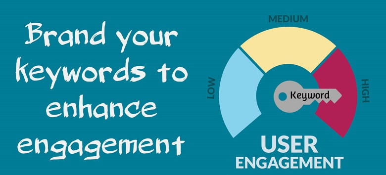 Brand your keywords to enhance engagement
