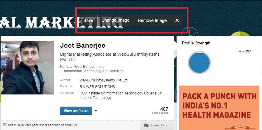 linkedin profile background image